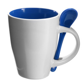 Coffee Mugs with Spoons