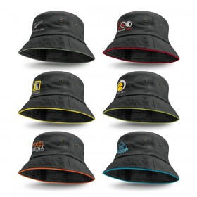 Coloured Trim Bucket Hats