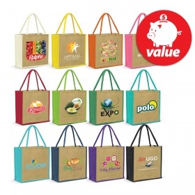 Forrest Jute Tote Bags